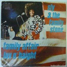 Discos de vinilo: SLY & FAMILY STONE // FAMILY AFFAIR // 1971 // SINGLE. Lote 193985438