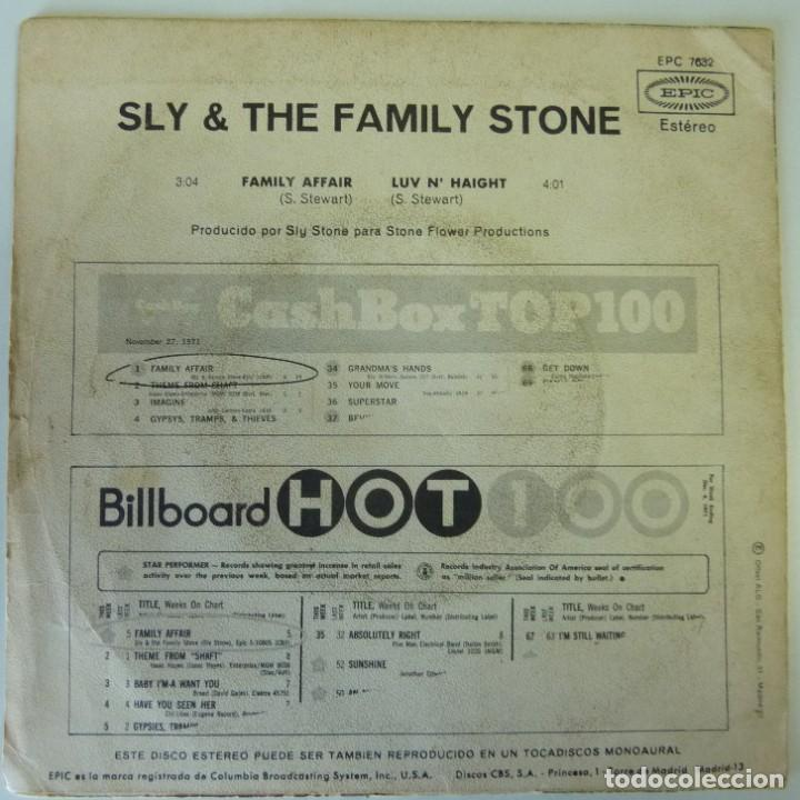 Discos de vinilo: SLY & FAMILY STONE // FAMILY AFFAIR // 1971 // SINGLE - Foto 2 - 193985438