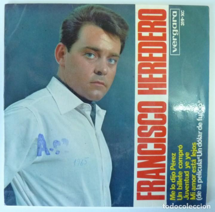 FRANCISCO HEREDERO // TICKET TO RIDE+3 // BEATLES //1965 // EP (Música - Discos de Vinilo - EPs - Solistas Españoles de los 50 y 60)
