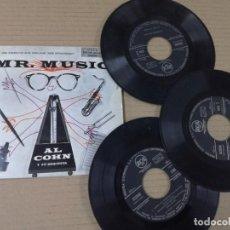 Discos de vinilo: MR MUSIC AL COHN 3 SINGLES 1955. Lote 193997470