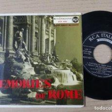 Discos de vinilo: MEMORIES OF ROMA SINGLES . Lote 193997706