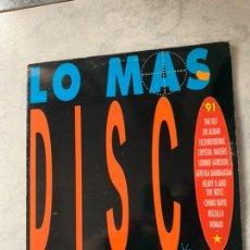 Discos de vinilo: LO MAS DISCO. Lote 194000173