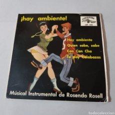 Discos de vinilo: ORQUESTA DE LOS MAESTROS CUBANOS - ROSENDO ROSELL - ¡ HAY AMBIENTE !. Lote 194003405