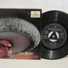 Discos de vinilo: LUIS AGUILAR - EL GALLO GIRO - 4 TEMAS - EP - COLUMBIA - 1959 - SPAIN - VG+/VG. Lote 194009195