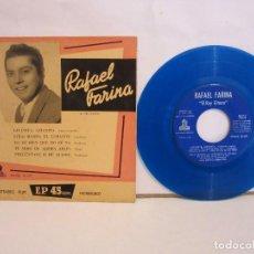 Discos de vinilo: RAFAEL FARINA - GITANITA, GITANITA +3 - EP - MUY RARO - COLOR AZUL - VG+/VG. Lote 194010142