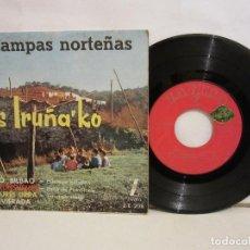 Discos de vinilo: LOS IRUÑA KO - ESTAMPAS NORTEÑAS - 4 TEMAS - EP - 1960 - SPAIN - VG/VG. Lote 194010548