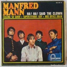 Discos de vinilo: MANFRED MANN. HA HA SAID THE CLOWN. EP ESPAÑA SOLO PORTADA. Lote 194027556