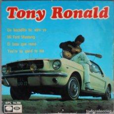 Discos de vinilo: TONY RONALD//UN BOCADITO TU, OTRO YO+3//1967//EP//EMI. Lote 194029337