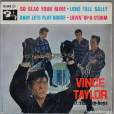 Discos de vinilo: VINCE TAYLOR//SO GLAD YOUR MINE//1961//EP//BARCLAY//MADE IN FRANCE. Lote 194053381