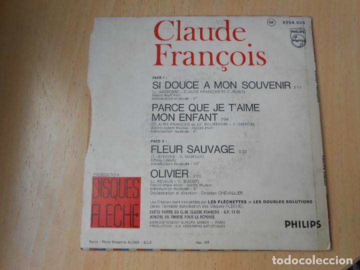 Discos de vinilo: CLAUDE FRANÇOIS, EP, SI DOUCE A MON SOUVENIR + 3, AÑO 19?? MADE IN FRANCE - Foto 2 - 194059861