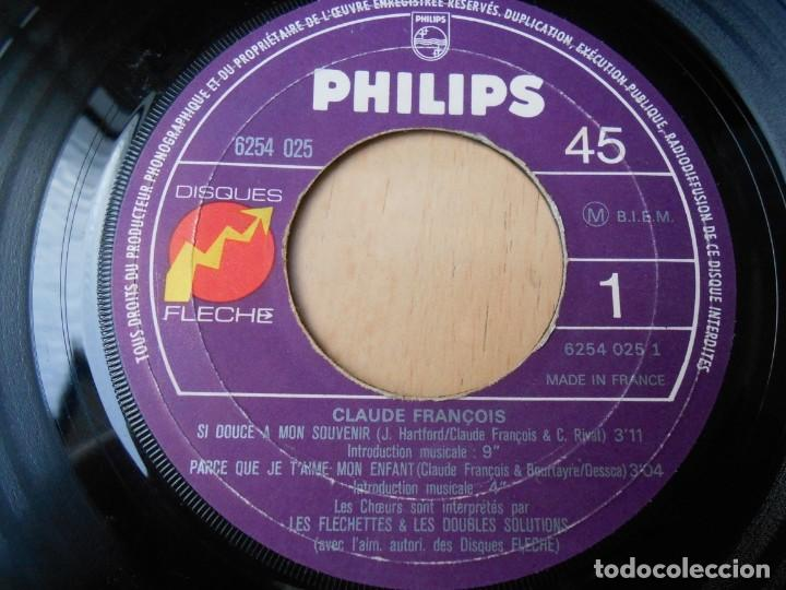 Discos de vinilo: CLAUDE FRANÇOIS, EP, SI DOUCE A MON SOUVENIR + 3, AÑO 19?? MADE IN FRANCE - Foto 3 - 194059861