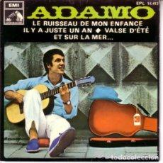 Discos de vinilo: ADAMO - LE RUISSEAU DE MON ENFANCE - EP EMI SPAIN 1968. Lote 194060072