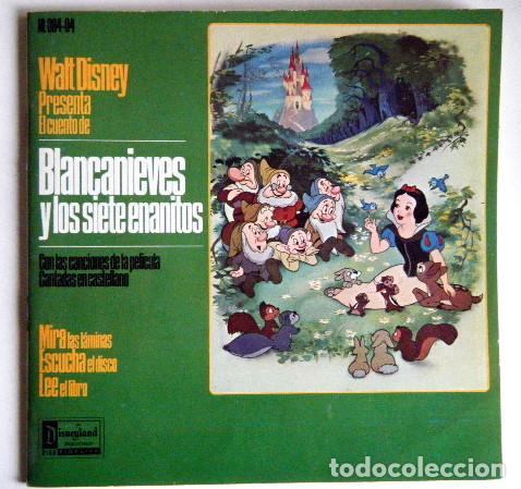 BLANCANIEVES Y LOS 7 ENANITOS WALT DISNEY DISCO LIBRO. (Música - Discos - Singles Vinilo - Música Infantil)