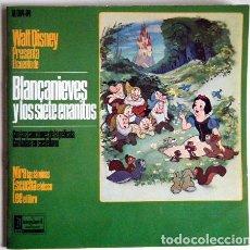 Discos de vinilo: BLANCANIEVES Y LOS 7 ENANITOS WALT DISNEY DISCO LIBRO.. Lote 194060143