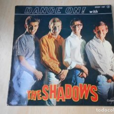 Discos de vinilo: SHADOWS, THE, EP, DANCE ON ! + 3, AÑO 19?? MADE IN FRANCE. Lote 194060192