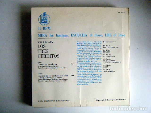 Discos de vinilo: LOS TRES CERDITOS WALT DISNEY DISCO LIBRO. - Foto 2 - 194060313