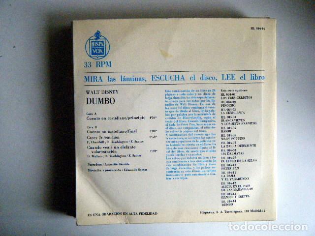 Discos de vinilo: DUMBO WALT DISNEY DISCO LIBRO. - Foto 2 - 194060576
