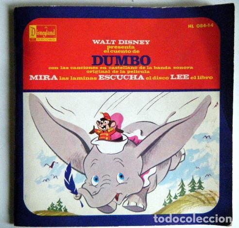 DUMBO WALT DISNEY DISCO LIBRO. (Música - Discos - Singles Vinilo - Música Infantil)