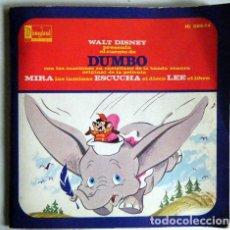 Discos de vinilo: DUMBO WALT DISNEY DISCO LIBRO.. Lote 194060576