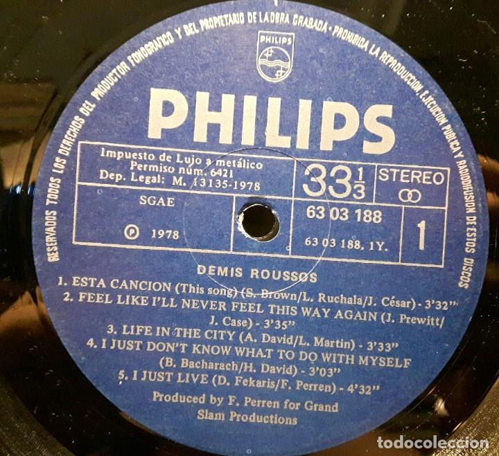 Discos de vinilo: DEMIS ROUSSOS - LP - ESPAÑA - 1978 - PORTADA SE ABRE - PHILIPS - EXCELENTE - NO CORREOS - Foto 5 - 194061212