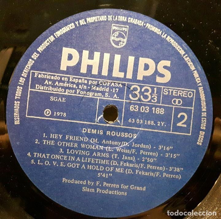 Discos de vinilo: DEMIS ROUSSOS - LP - ESPAÑA - 1978 - PORTADA SE ABRE - PHILIPS - EXCELENTE - NO CORREOS - Foto 6 - 194061212