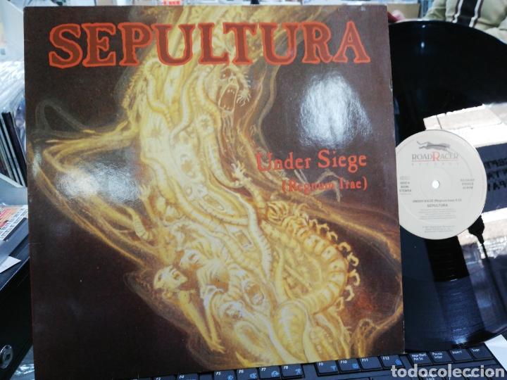 SEPULTURA MAXI UNDER SIEGE HOLANDA 1991 (Música - Discos de Vinilo - Maxi Singles - Heavy - Metal)