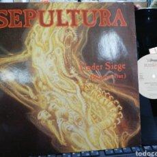 Discos de vinilo: SEPULTURA MAXI UNDER SIEGE HOLANDA 1991. Lote 194061525