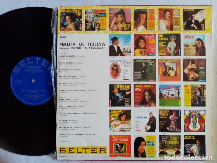 Discos de vinilo: Perlita de Huelva - Amigo Conductor - LP 1969 - BELTER - Foto 2 - 194061528