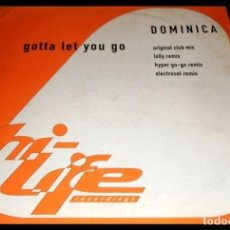Discos de vinilo: DOMINICA. GOTTA LET YOU GO. EP VINILO. Lote 194065923