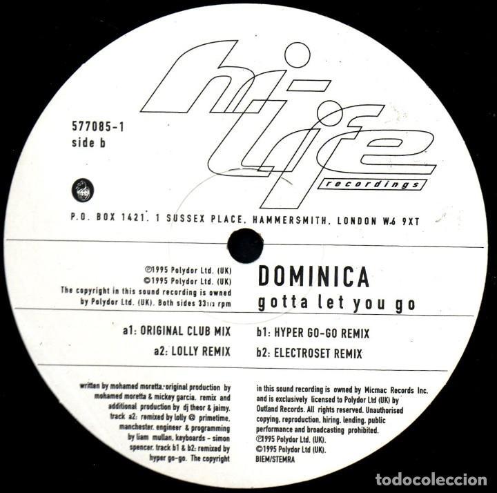 Discos de vinilo: DOMINICA. GOTTA LET YOU GO. EP VINILO - Foto 2 - 221512643