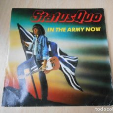 Dischi in vinile: STATUS QUO, SG, IN THE ARMY NOW + 1, AÑO 1986. MADE IN FRANCE. Lote 194066110