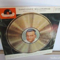 Discos de vinilo: CANCIONES MILLONARIAS ERWIN HALLETZ Y SU ORQUESTA. LP VINILO. 1959. POLYDOR. VER FOTOGRAFIAS ADJUNTA. Lote 194067533