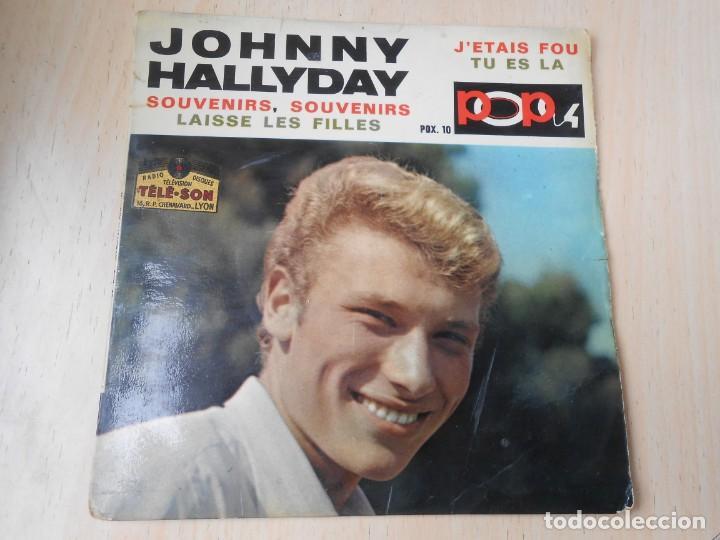 JOHNNY HALLYDAY, EP, SOUVENIRS, SOUVENIRS + 3, AÑO 19??. MADE IN FRANCE (Música - Discos de Vinilo - EPs - Canción Francesa e Italiana)