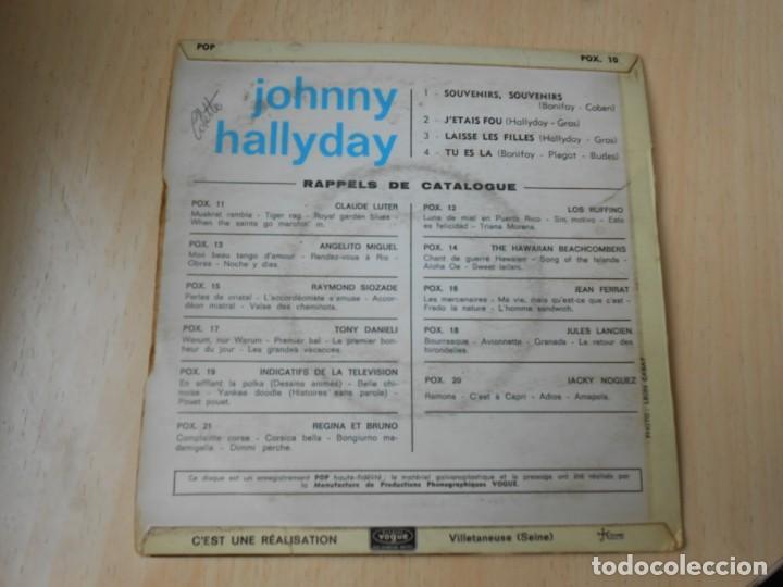 Discos de vinilo: JOHNNY HALLYDAY, EP, SOUVENIRS, SOUVENIRS + 3, AÑO 19??. MADE IN FRANCE - Foto 2 - 194068318