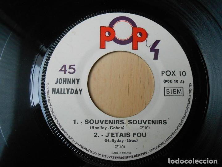 Discos de vinilo: JOHNNY HALLYDAY, EP, SOUVENIRS, SOUVENIRS + 3, AÑO 19??. MADE IN FRANCE - Foto 3 - 194068318