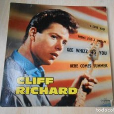 Discos de vinilo: CLIFF RICHARD AND THE SHADOWS, EP, GEE WHIZZ IT´S YOU + 3, AÑO 19??. MADE IN FRANCE. Lote 194068722