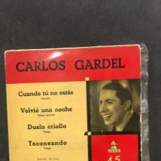 Discos de vinilo: CARLOS GARDEL SINGLE EP DE 1955. Lote 194068841