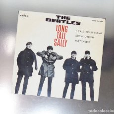 Discos de vinilo: THE BEATLES --- LONG TALL SALLY & I CALL YOUR NAME & SLOW DOWN & MATCHBOX 1964 LAVEL AZUL FUERTE. Lote 194070180