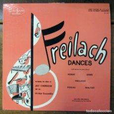 Discos de vinilo: JAY CHERNOW AND THE HI-HAT ENSEMBLE - FREILACH DANCES - KLEZMER, ISRAEL. Lote 194072353