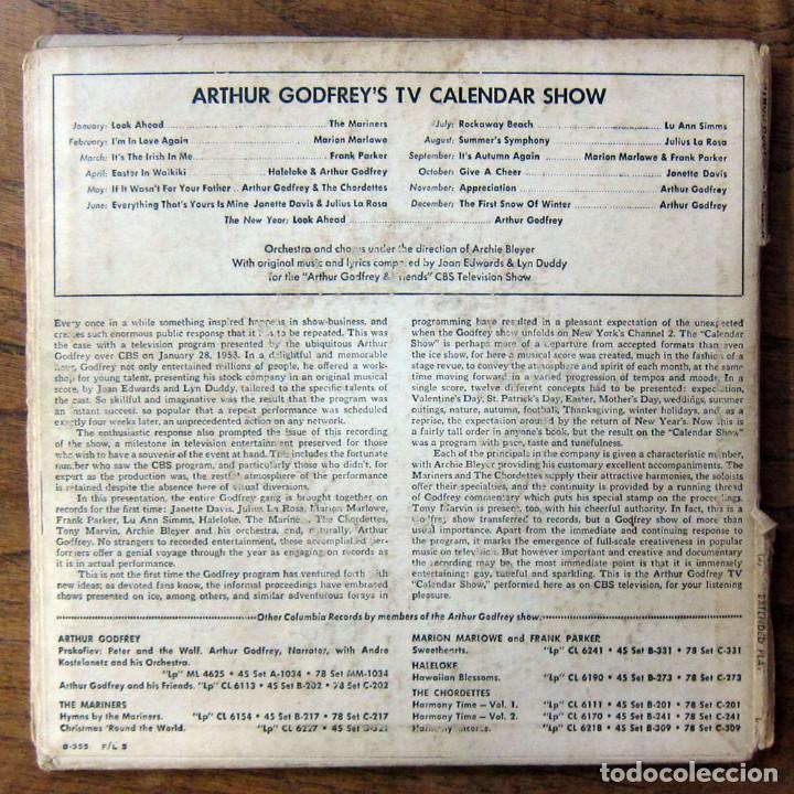 Discos de vinilo: ARTHUR GODFREYS TV CALENDAR SHOW - TRIPLE EP - CBS, TELEVISIÓN - Foto 4 - 194072902