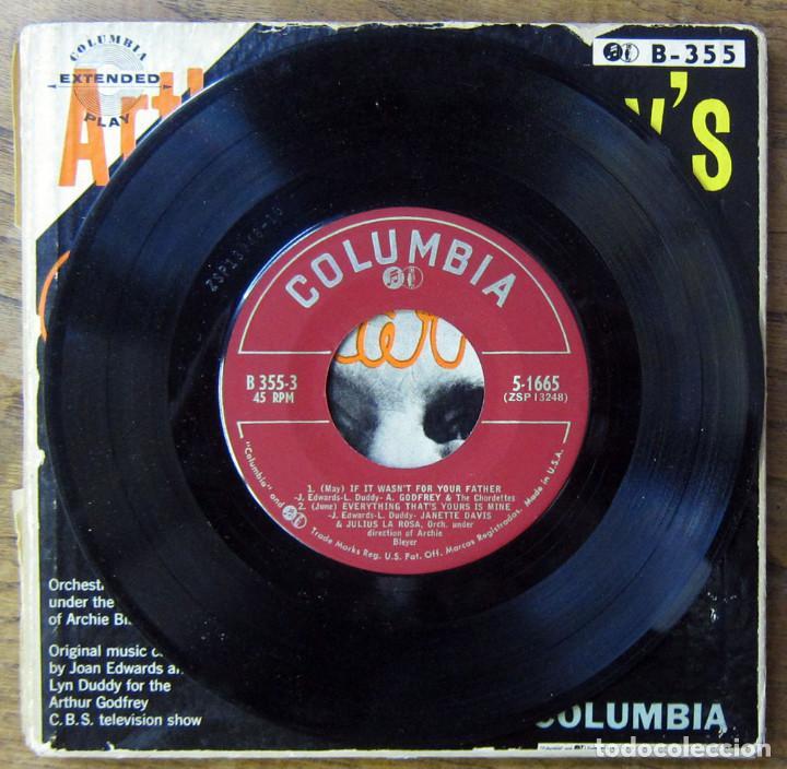 Discos de vinilo: ARTHUR GODFREYS TV CALENDAR SHOW - TRIPLE EP - CBS, TELEVISIÓN - Foto 6 - 194072902