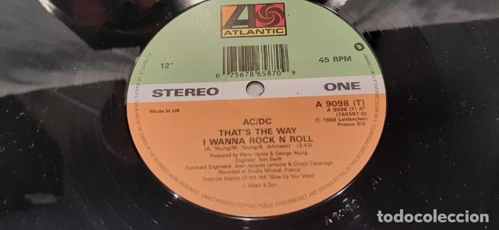 Discos de vinilo: AC/DC -THATS THE WAY I WANNA ROCK N ROLL- (1988) MAXI-SINGLE - Foto 3 - 194072941