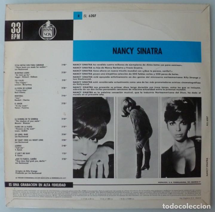 Discos de vinilo: NANCY SINATRA - ESTAS BOTAS SON PARA CAMINAR (LP REPRISE-HISPAVOX 1966 ESPAÑA) - Foto 2 - 194073563