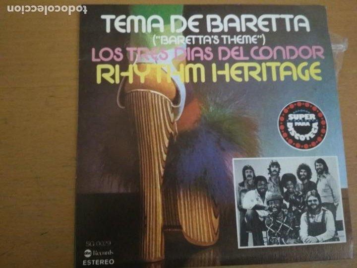 RHYTHM HERITAGE TEMA DE BARETTA / LOS TRES DIAS DEL CONDOR SINGLE SPAIN (Música - Discos - Singles Vinilo - Funk, Soul y Black Music)