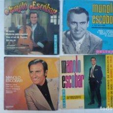 Discos de vinilo: LOTE DE DISCOS SINGLE MANOLO ESCOBAR. Lote 194084331