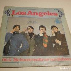 Discos de vinilo: SINGLE LOS ÁNGELES. 98.6. ME HACES SENTIR TAN DICHOSO. HISPAVOX 1967 SPAIN (PROBADO Y BIEN). Lote 194084998