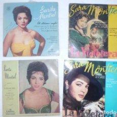 Discos de vinilo: LOTE GRANDE DE DISCOS SINGLE SARA MONTIEL, AÑOS 60. Lote 194085315