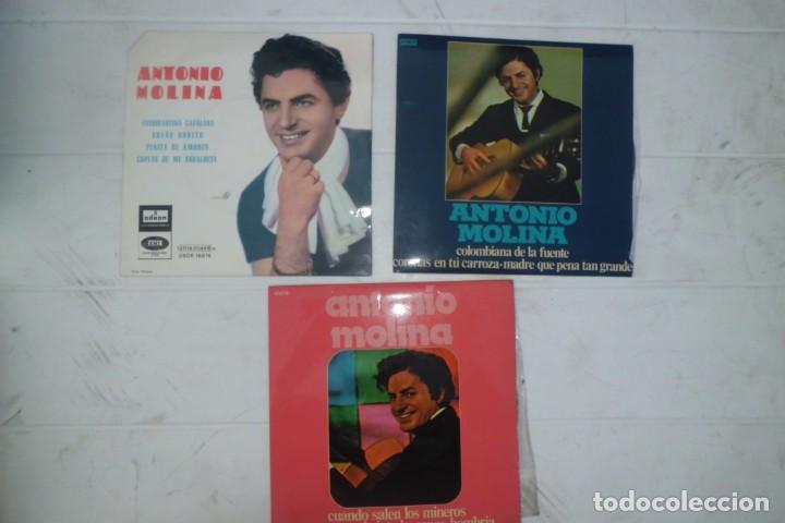 LOTE DE DISCOS DE ANTONIO MOLINA, AÑOS 60 (Música - Discos - Singles Vinilo - Solistas Españoles de los 50 y 60)