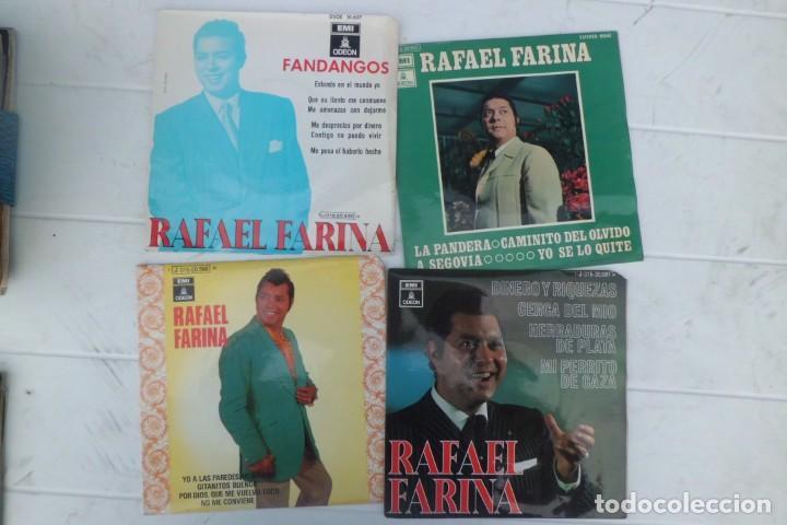 LOTE DE DISCOS SINGLE DE RAFAEL FARINA, AÑOS 60 (Música - Discos - Singles Vinilo - Solistas Españoles de los 50 y 60)