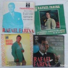 Discos de vinilo: LOTE DE DISCOS SINGLE DE RAFAEL FARINA, AÑOS 60. Lote 194085895